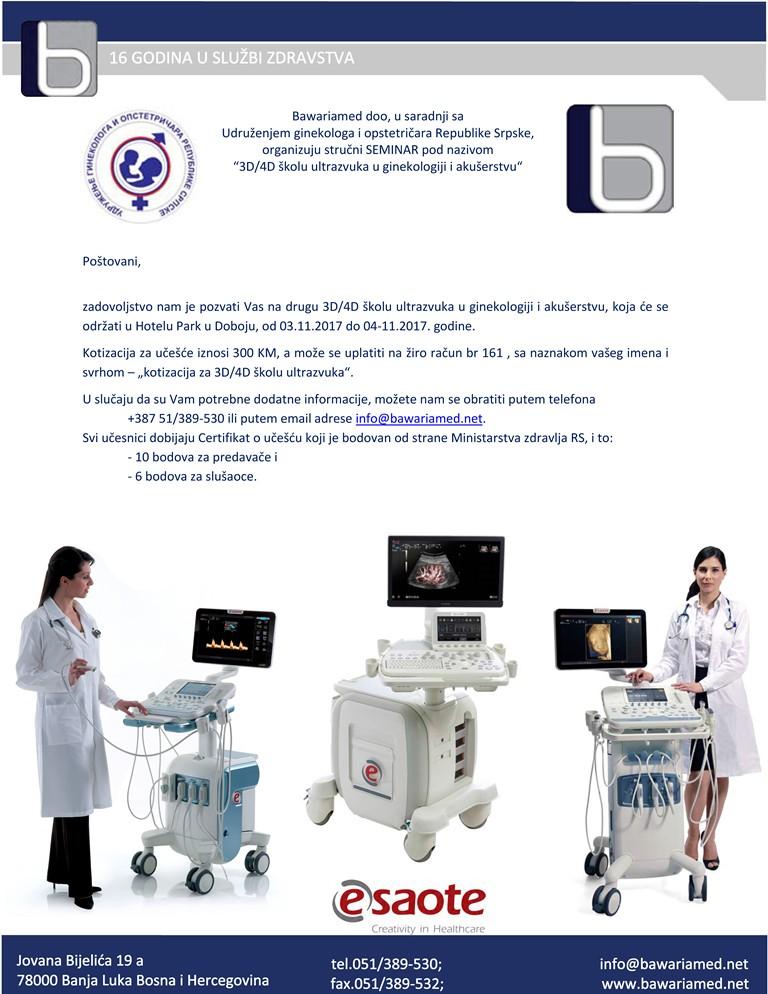3D 4D  škola ultrazvuka